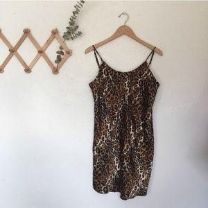Vintage Cheetah Print Slip Dress